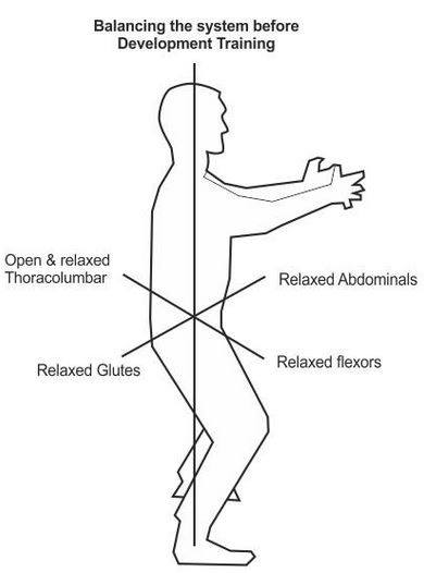 Qi flow and points to observed in Standing Meditation: